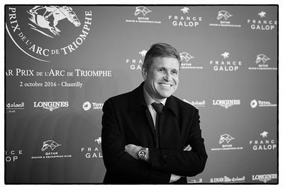 Juan-Carlos Capelli (Vice président de Longines) pendant le 95e Prix Qatar Arc de Triomphe, le 2 Octobre 2016, à Chantilly, France - Photo Christophe Bricot / Bestimage