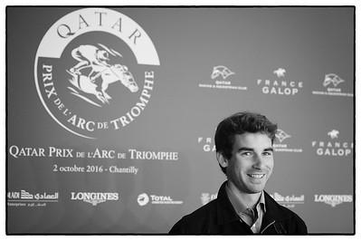 Altier Nicolas (Champion Olympique de concours complet à Rio - équitation), pendant le 95e Prix Qatar Arc de Triomphe, le 2 Octobre 2016, à Chantilly, France - Photo Christophe Bricot / Bestimage