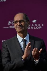Éric Woerth, pendant le 95e Prix Qatar Arc de Triomphe, le 2 Octobre 2016, à {city}, {country} - Photo Christophe Bricot / Bestimage