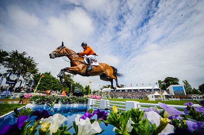 France, La Baule : Wout-Jan Van Der Schans riding Capetown during the FEI Nations Cup, Longines International Jumping of La Baule , on May 12th , 2017, in La Baule, France - Photo Christophe Bricot