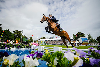 France, La Baule : Henrik Von Eckermann riding Copperphild during the FEI Nations Cup, Longines International Jumping of La Baule , on May {day th , {year4}, in La Baule, France - Photo Christophe Bricot