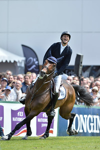 France, La Baule :  Pedro Junqueira Muylaert riding Prince Royal Z Mfs winner of the Grand Prix, Longines International Jumping of La Baule , on May {day th , {year4}, in La Baule, France - Photo Christophe Bricot