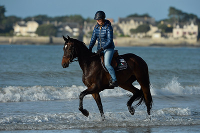 France, La Baule :  Ambramarie Del Beiro during the FEI Longines International Jumping of La Baule , on May {day th , {year4}, in La Baule, France - Photo Christophe Bricot