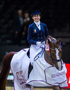 France, Lyon : Beatriz Ferrer-Salat riding Delgado during the FEI World Cup™ Dressage - Freestyle competition, Equita Lyon, on November 3 , 2017, in Lyon, France - Photo Christophe Bricot