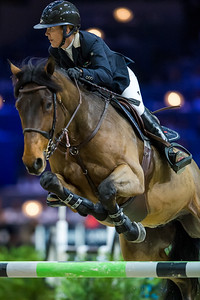 France, Lyon : Lauren HOUGH (USA) riding Waterford during Equita'Masters competition, Equita Lyon, on November 4 , 2017, in Lyon, France - Photo Christophe Bricot