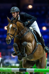 France, Lyon : Steve GUERDAT (SUI) riding Cayetana during Equita'Masters competition, Equita Lyon, on November 4 , 2017, in Lyon, France - Photo Christophe Bricot