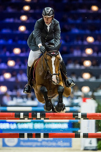 France, Lyon : Dermott LENNON (IRL) riding Fleur IV during Equita'Masters competition, Equita Lyon, on November 4 , 2017, in Lyon, France - Photo Christophe Bricot
