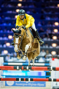 France, Lyon : Yuri MANSUR (BRA) riding Inferno during Equita'Masters competition, Equita Lyon, on November 4 , 2017, in Lyon, France - Photo Christophe Bricot