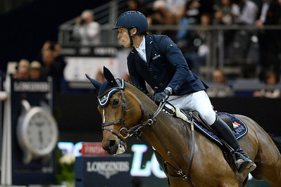 France, Lyon : Henrik VON ECKERMANN (SWE) riding Mary Lou 194 during the Longines FEI™ World Cup Jumping , Equita Lyon, on November 5 , 2017, in Lyon, France - Photo Christophe Bricot