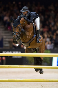 France, Lyon : Pénélope LEPREVOST (FRA) riding Vagabond de la Pomme during the Longines Grand Prix,  Equita Lyon, on November 3 , 2017, in Lyon, France - Photo Christophe Bricot