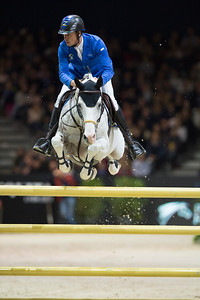 France, Lyon : Christian AHLMANN (GER) riding Colorit during the Longines Grand Prix,  Equita Lyon, on November 3 , 2017, in Lyon, France - Photo Christophe Bricot