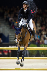 France, Lyon : Steve GUERDAT (SUI) riding Bianca during the Longines Grand Prix,  Equita Lyon, on November 3 , 2017, in Lyon, France - Photo Christophe Bricot