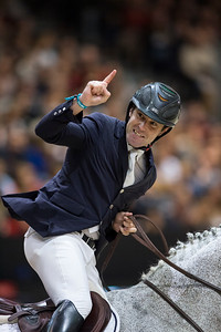 France, Lyon : Mark MCAULEY (IRL) riding Miebello (winner) during the Longines Grand Prix,  Equita Lyon, on November 3 , 2017, in Lyon, France - Photo Christophe Bricot