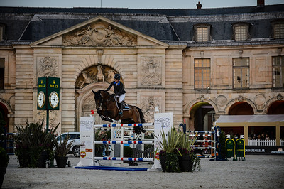 France, Versailles : Penelope LEPREVOST riding URANO DE CARTIGNY during the Versailles Castle Show Jumping at the stables of the kings, on May 5th , 2017, in Versailles, France - Photo Christophe Bricot