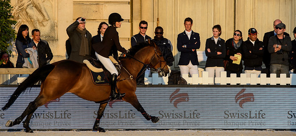 France, Versailles : Jessica SPRINGSTEEN riding DAVENDY S during the Versailles Castle Show Jumping at the stables of the kings, on May 5th , 2017, in Versailles, France - Photo Christophe Bricot