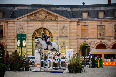 France, Versailles : Malin BARYARD-JOHNSSON riding H&M CUE CHANNA 42 during the Versailles Castle Show Jumping at the stables of the kings, on May 5th , 2017, in Versailles, France - Photo Christophe Bricot