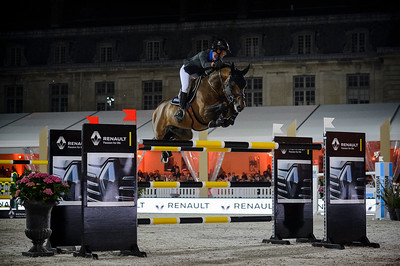 France, Versailles : Penelope LEPREVOST riding URANO DE CARTIGNY during the Versailles Castle Show Jumping at the stables of the kings, on May 6th , 2017, in Versailles, France - Photo Christophe Bricot