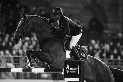France, Versailles : Abdelkebir OUADDAR riding SAPHIR DU TALUS during the Versailles Castle Show Jumping at the stables of the kings, on May 6th , 2017, in Versailles, France - Photo Christophe Bricot