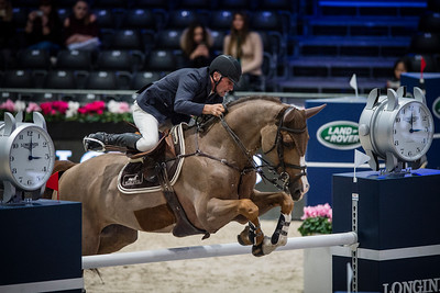 France, Villepinte : Jérôme Hurel riding Urano during the Longines Masters of Paris 2017, on November 30 , 2017, in Villepinte, France - Photo Christophe Bricot