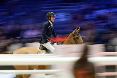 France, Villepinte : Edward LEVY (FRA) riding UMBRELLA TER WILGEN Z during the Longines Masters of Paris 2017, on November 30 , 2017, in Villepinte, France - Photo Christophe Bricot