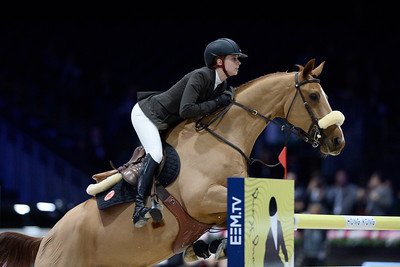 France, Villepinte : Alexandra PAILLOT (FRA) riding TONIO LA GOUTELLE during the Longines Masters of Paris 2017, on November 30 , 2017, in Villepinte, France - Photo Christophe Bricot