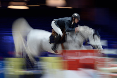 France, Villepinte : Gregory WATHELET (BEL) riding COREE during the Longines Masters of Paris 2017, on November 30 , 2017, in Villepinte, France - Photo Christophe Bricot