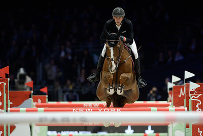 France, Villepinte :Eric Lamaze, Alexandra Paillot  during the Longines Masters of Paris 2017, on December 1 , 2017, in Villepinte, France - Photo Christophe Bricot
