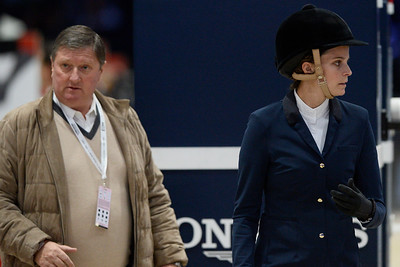 France, Villepinte : Jan Tops , Athina Onassis during the Longines Masters of Paris 2017, on December 1 , 2017, in Villepinte, France - Photo Christophe Bricot
