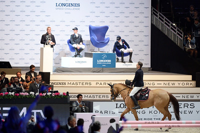 France, Villepinte : Kevin STAUT (FRA) riding Ayade de Septon et HDC during the Longines Masters of Paris 2017, on December 1 , 2017, in Villepinte, France - Photo Christophe Bricot