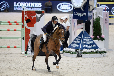 France, Villepinte : Julien EPAILLARD (FRA) riding Cristallo A LM  during the Longines Masters of Paris 2017, on December 1 , 2017, in Villepinte, France - Photo Christophe Bricot