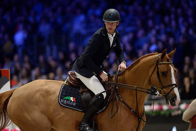 France, Villepinte : Niels BRUYNSEELS (BEL) riding Joker vd Vlasbloemhoeve during the Longines Masters of Paris 2017, on December 2 , 2017, in Villepinte, France - Photo Christophe Bricot