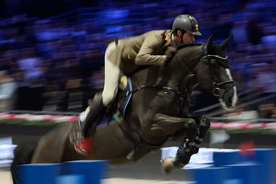 France, Villepinte : Alberto ZORZI (ITA) riding Ego van Orti during the Longines Masters of Paris 2017, on December 2 , 2017, in Villepinte, France - Photo Christophe Bricot