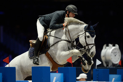 France, Villepinte : Gregory WATHELET (BEL) riding Coree during the Longines Masters of Paris 2017, on December 2 , 2017, in Villepinte, France - Photo Christophe Bricot