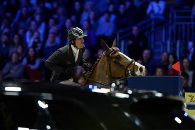 France, Villepinte : Andrew KOCHER (USA) riding Artemise du Houssoit during the Longines Masters of Paris 2017, on December 2 , 2017, in Villepinte, France - Photo Christophe Bricot