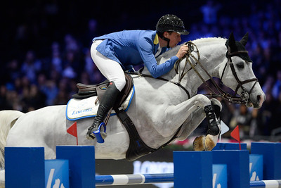 France, Villepinte : Christian AHLMANN (GER) riding Cornwell 9 during the Longines Masters of Paris 2017, on December 2 , 2017, in Villepinte, France - Photo Christophe Bricot