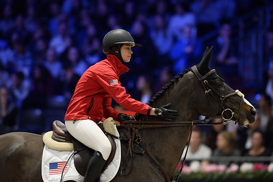 France, Villepinte : Reed KESSLER (USA) riding KS Stakkiduring the Longines Masters of Paris 2017, on December 2 , 2017, in Villepinte, France - Photo Christophe Bricot