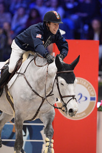 France, Villepinte : Maikel VAN DER VLEUTEN (NED) riding Dana Blue during the Longines Masters of Paris 2017, on December 2 , 2017, in Villepinte, France - Photo Christophe Bricot