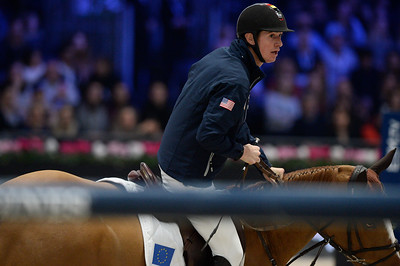 France, Villepinte : Jos VERLOOY (BEL) riding Igor during the Longines Masters of Paris 2017, on December 2 , 2017, in Villepinte, France - Photo Christophe Bricot