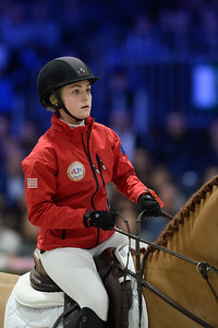 France, Villepinte : Chloe REID (USA) riding Sally 643 during the Longines Masters of Paris 2017, on December 2 , 2017, in Villepinte, France - Photo Christophe Bricot