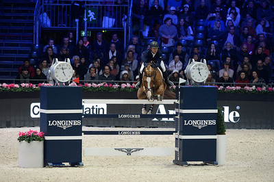 France, Villepinte : Kent FARRINGTON (USA) riding Creedance during the Longines Masters of Paris 2017, on December 3 , 2017, in Villepinte, France - Photo Christophe Bricot