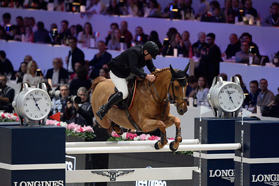 France, Villepinte : Roger Yves BOST (FRA) riding Sydney Une Prince during the Longines Masters of Paris 2017, on December 3 , 2017, in Villepinte, France - Photo Christophe Bricot