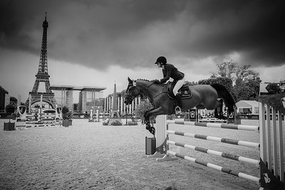 France, Paris : Mathilde Pinault riding Lotta  during the Longines Global Champions Tour of Longines Paris Eiffel Jumping, on June 30th , 2017, in Paris, France - Photo Christophe Bricot