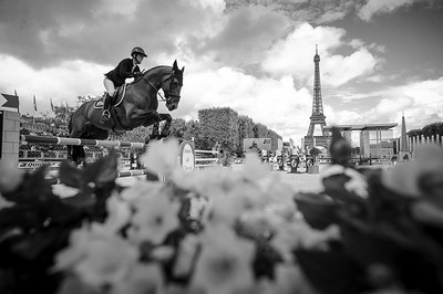 France, Paris : Penelope Leprevost riding Vagabond de la Pomme during the Longines Global Champions Tour of Longines Paris Eiffel Jumping, on June 30th , 2017, in Paris, France - Photo Christophe Bricot