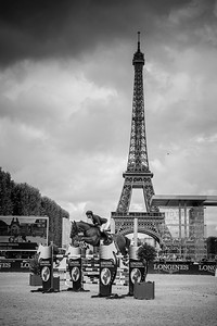 France, Paris : Simon Delestre riding Hermès Ryan during the Longines Global Champions Tour of Longines Paris Eiffel Jumping, on June 30th , 2017, in Paris, France - Photo Christophe Bricot