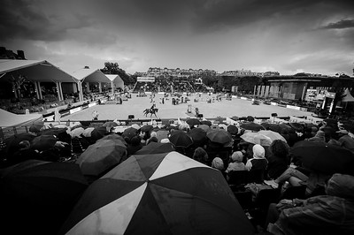 France, Paris : Illustration, rain, during the Longines Global Champions Tour of Longines Paris Eiffel Jumping, on June 30th , 2017, in Paris, France - Photo Christophe Bricot