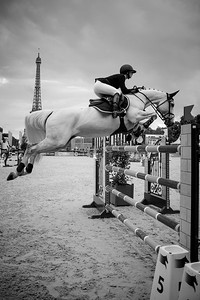 France, Paris : Georgina Bloomberg riding Manodie II H during the Longines Global Champions Tour of Longines Paris Eiffel Jumping, on June 30th , 2017, in Paris, France - Photo Christophe Bricot