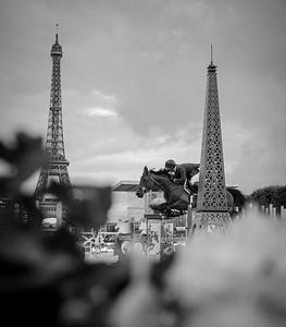 France, Paris : Sergio Alvarez Moya riding G&C Unicstar de l'Aumone during the Longines Global Champions Tour of Longines Paris Eiffel Jumping, on June 30th , 2017, in Paris, France - Photo Christophe Bricot
