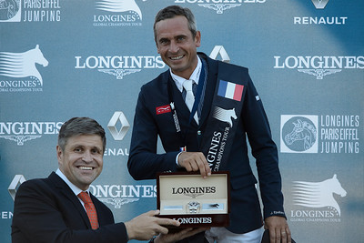 France, Paris : Juan Carlos Grapelli (Longines) Julien Epaillard riding Usual Suspect D'auge during the Longines Global Champions Tour of Longines Paris Eiffel Jumping, on July 1th , 2017, in Paris, France - Photo Christophe Bricot