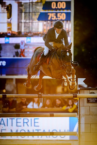 France, Paris : Simon Delestre riding Hermes Ryano during the Longines Global Champions Tour of Longines Paris Eiffel Jumping, on July 1th , 2017, in Paris, France - Photo Christophe Bricot