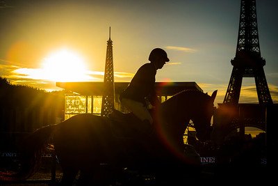 France, Paris : Harrie Smolders riding Don VHP Z during the Longines Global Champions Tour of Longines Paris Eiffel Jumping, on July 1th , 2017, in Paris, France - Photo Christophe Bricot